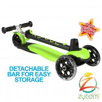 Zycom Zing Kids Light Up Scooter - Lime/Black