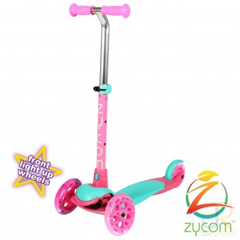 Zycom Zing Kids Light Up Scooter - Teal/Pink