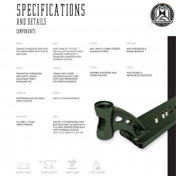 MGP VX9 Pendulum Complete - Black/Gold Specs