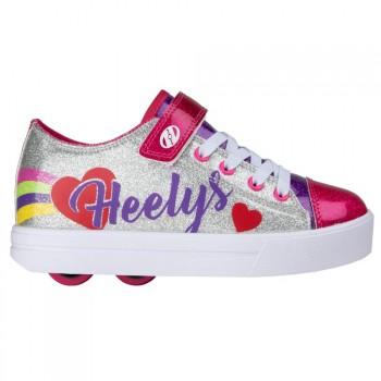 Heelys Snazzy X2 (HE100935) - Silver/Rainbow/Heart
