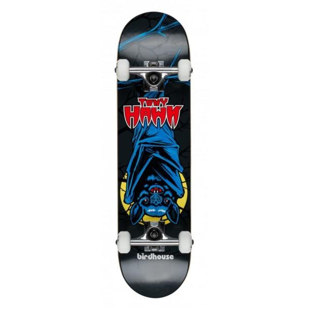Birdhouse Stage 1 Bat Mini Complete Skateboard Black 7.375
