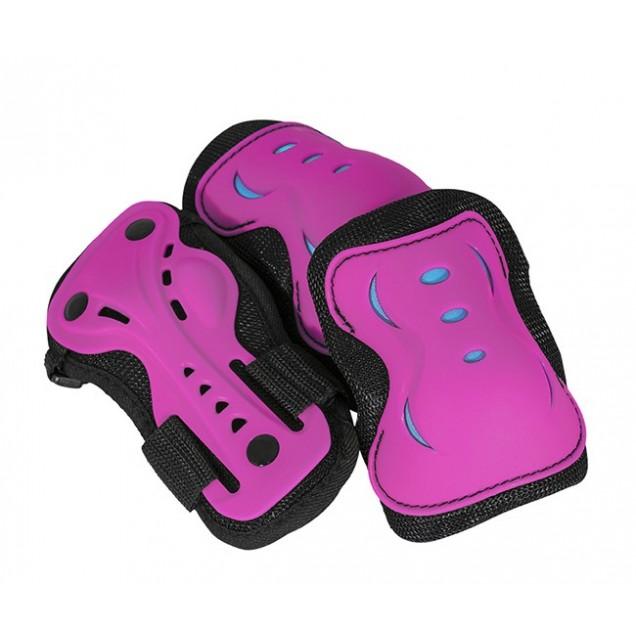 AC760 Triple Pad Skate Set Pink - Blue