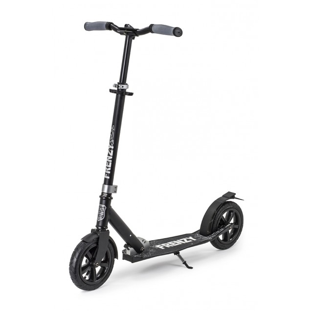 Frenzy 205mm Pneumatic Plus Adult Scooter - Black