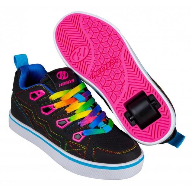 Heelys Tracer 20 (HE100800) - Black/Hot Pink/Rainbow
