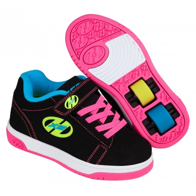 Heelys Dual Up X2 (770584) - Black/Neon Multi
