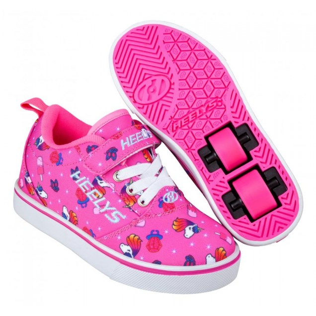 Heelys Pro 20 X2 (HE 100778) - Pink/Hot Pink Unicorns