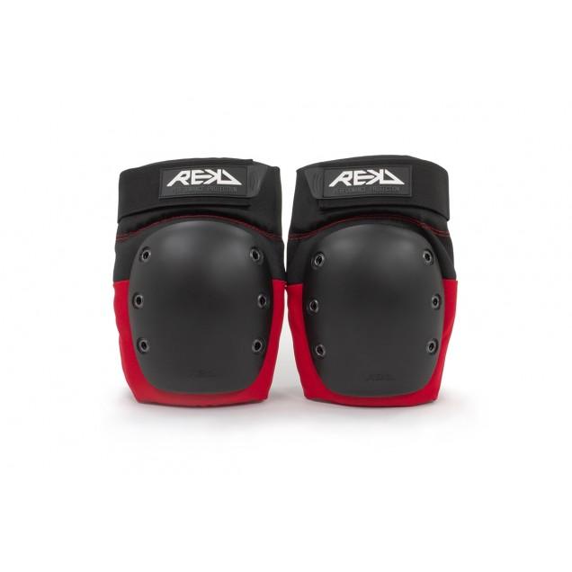 REKD Ramp Knee Pads - Black/Red