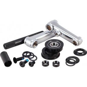 Rocker 48T Spline Crank Set With Pedal - Chrome