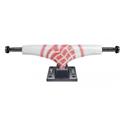 Thunder Lights Aftershocks Team Skateboard Truck - White/Grey 147 MM