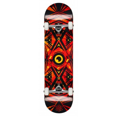 Rocket Surveillance Series Complete Skateboard - Flames Orange