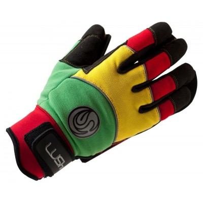 Lush Freeride Gloves Rasta