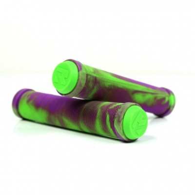 Root Industries Scooter Grips - Green/Purple