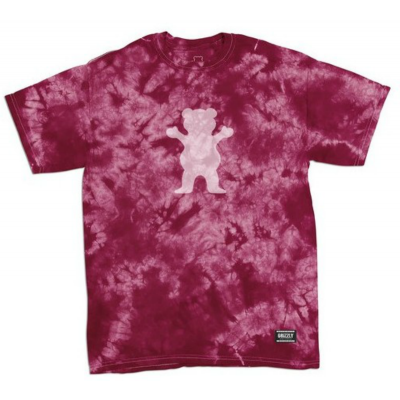 Grizzly Shatter OG Bear T-Shirt - Burgundy