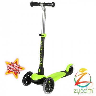 Zycom Zing Kids Light Up Scooter - Lime/Black