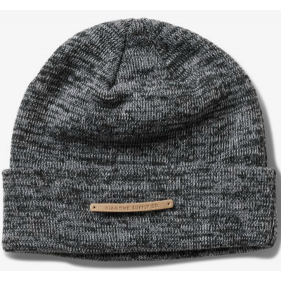 Diamond Facet Beanie in Heather Grey