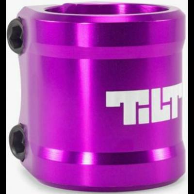 Tilt Arc Double Scooter Clamp - Purple
