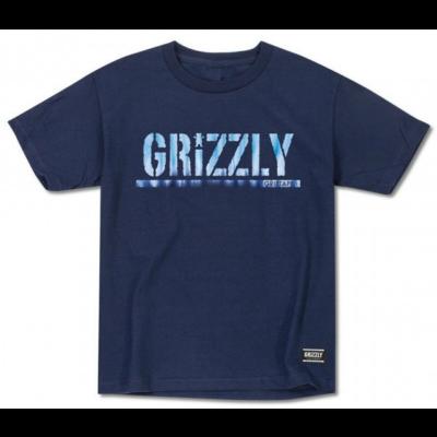 Grizzly Fire NavyTie Dye OG Tee