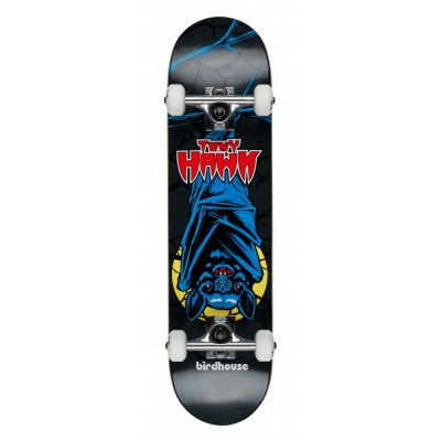 Birdhouse Stage 1 Bat Mini Complete Skateboard Black 7.375""