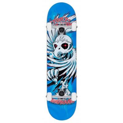 "Birdhouse Stage 1 Hawk Spiral Complete Skateboard Blue 7.75"""