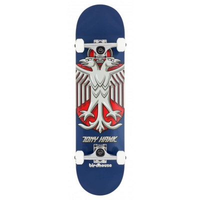 Birdhouse Stage 1 Hawk Shield Complete  Skateboard Blue 8""