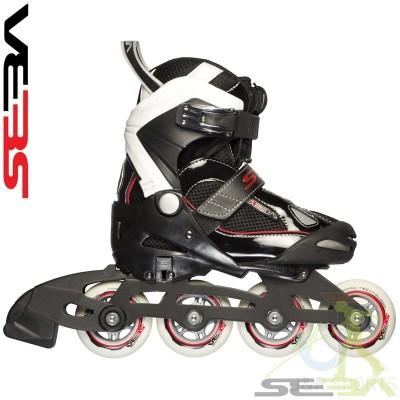 Seba Junior Semi-Soft Adjustable Inline Skates 2014 Black