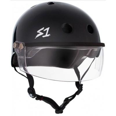 S1 Lifer Multi Impact Visor Helmet – Black Gloss