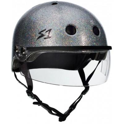 S1 Lifer Multi Impact Visor Helmet – Silver Glitter