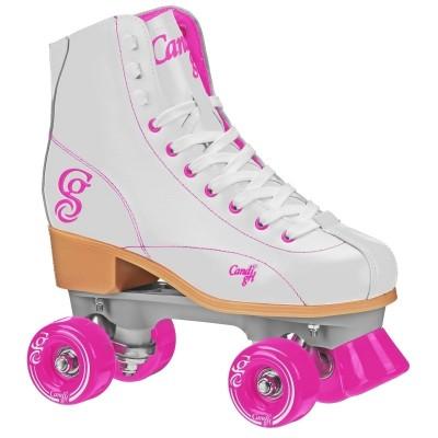 Roller Derby Elite Candi Sabina Quad Skates - White/Pink