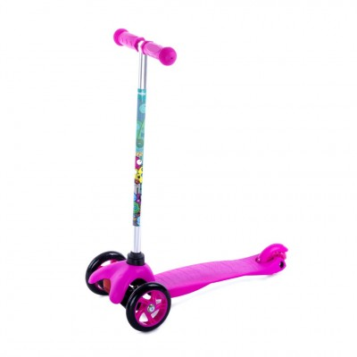 Spokey Kids 3 Wheel Scooter - Pink