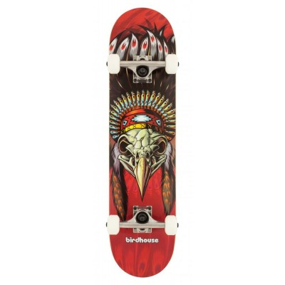 """Birdhouse Stage 1 Chief Complete Skateboard - Red 7.5"""""""
