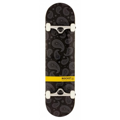 "Rocket Distinct Series Complete Skateboard - Black 8"""