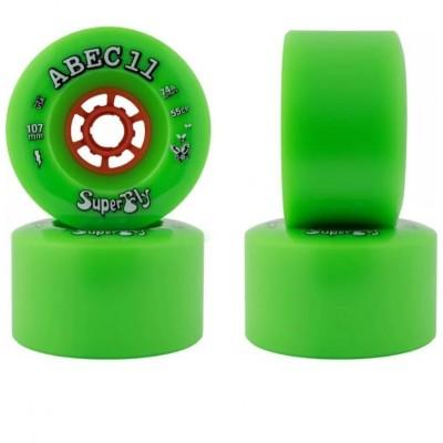 ABEC 11 Flywheel Wheels - Green 107mm