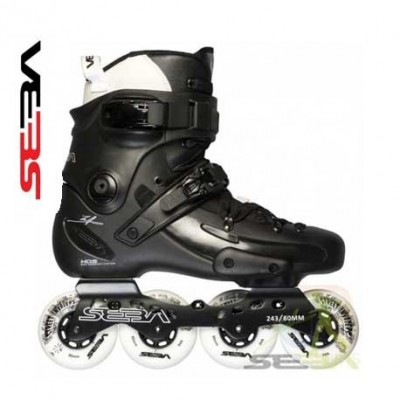 Seba FreeRide FR1 80 Deluxe Inline Skates 2014 Black