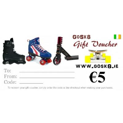 GoSk8 €5 Gift Voucher