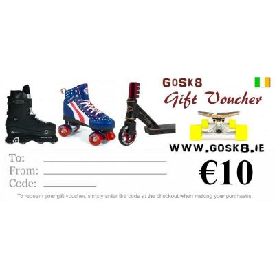 GoSk8 €10 Gift Voucher