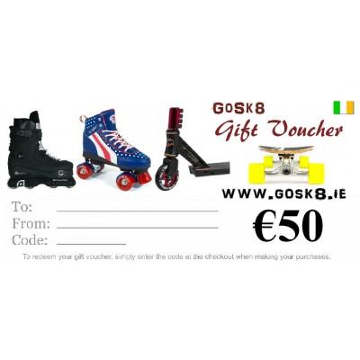 GoSk8 €50 Gift Voucher