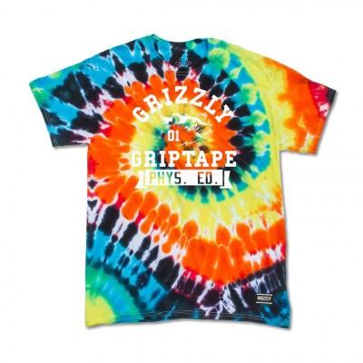 Grizzly Mens Shirt - Phys Ed Bear Tie Dye