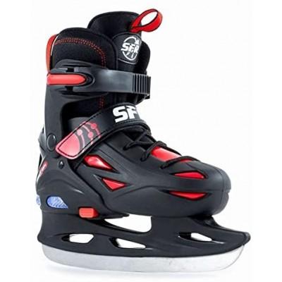 SFR Eclipse Light Up Adjustable Kids Ice Skates - Black