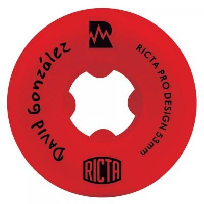 Ricta NRG David Gonzalez Skateboard Wheels Red 53mm