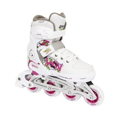 Twin Adjustable Inline Skates - White