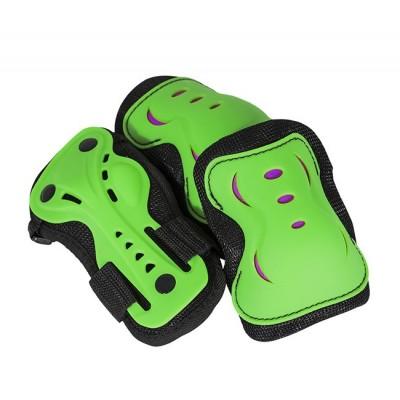 AC760 Triple Pad Skate Set Green