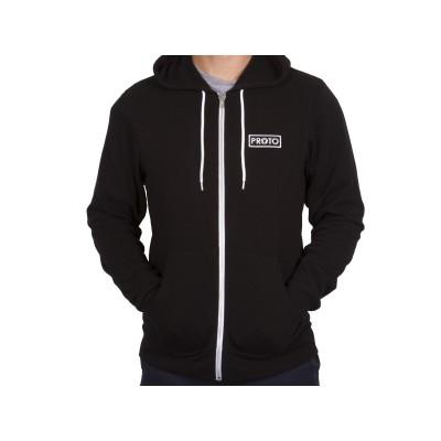 Proto Zip Up Hoodie - Black