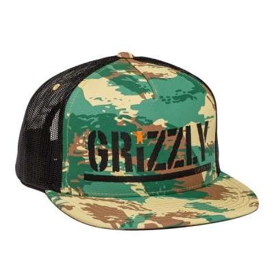Grizzly Colored Bear Stamp Trucker Camo