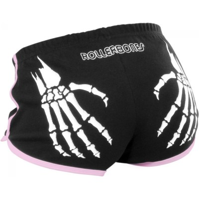 Rollerbones Derby Booty Shorts Black / Pink