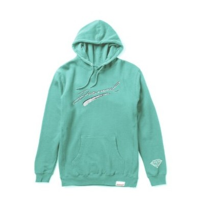 Diamond Brush Script Hoodie Blue