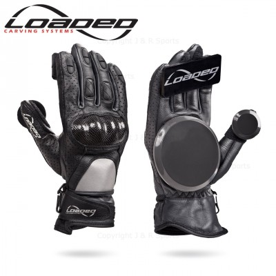 Loaded Leather Race Gloves - Black