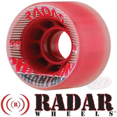 Radar Phantom Wheels - Clear Red 59mm 80A
