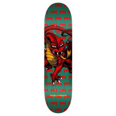 "Powell Peralta One Off Cab Dragon Green Skateboard Deck - 7.75"""