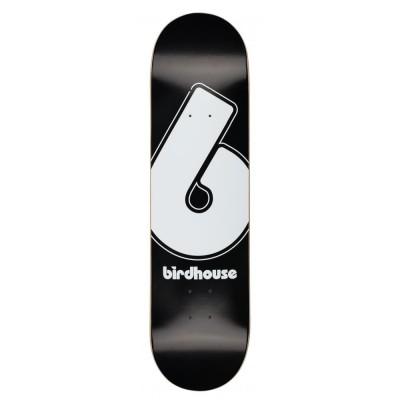 """Birdhouse Giant B Logo Skateboard Deck - Black 8.25"""""""