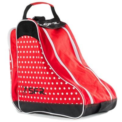 SFR Designer Ice & Skate Bag - Red Polka
